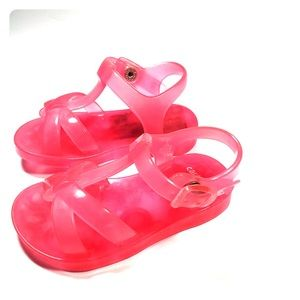 Carters child's  pink jelly Sandler